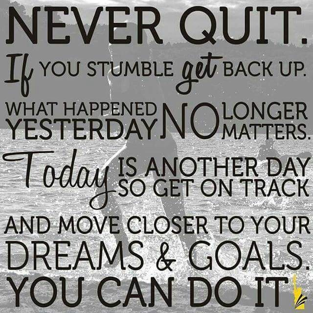 quitting was never an option Don't make quitting an option and never give up let's think today about why it is better you don't make quitting an option in the last post, ikechi awazie did write.